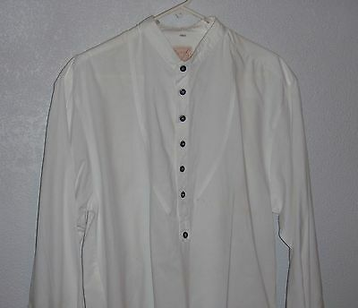 Men's white Reinactment Shirt 1860's Cowboy Clothing By:True West