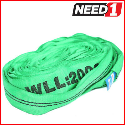 2 T X 3 Metre Round Lifting Sling  100% Polyester Comes With Test Certificate