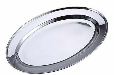 Renberg Oval Serving Platters Trays Stainless Steel Dish Large Party Platter
