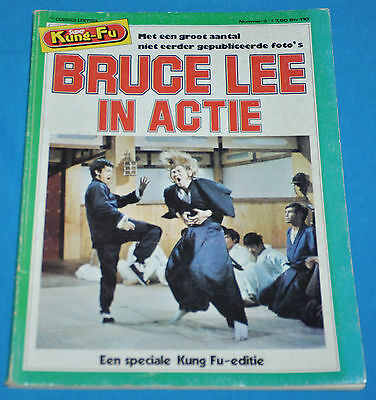 bruce lee in actie BOOK DUTCH 1978 kung-fu RARE