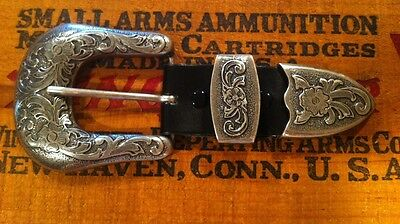 Montana Silversmiths Antiqued Silver 3 Piece Belt Buckle New In Bag