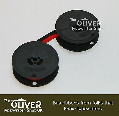 Oliver Portable Typewriter Ribbon, Black and Red.        **FREE SHIPPING**
