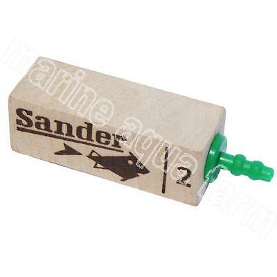 Sander Wooden Air Stone 2, Difuser, Marine, Tropical, Culture, Pump, Fish Tank