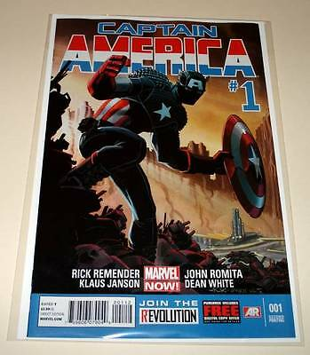 CAPTAIN AMERICA # 1  Marvel Comic  March 2013  2nd PRINTING VARIANT COVER  NM