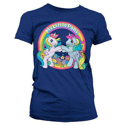 Official Licensed My Little Pony Best Friends Navy T-Shirt (Ladies)