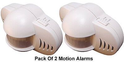 Pack Of 2 Motion Alarms With 90dB Siren + Alarm/Chime Mode