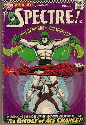 Showcase #64 Dc 09/66 The Spectre 5Th App Ghost Of Ace Chance Fox & Anderson Vg