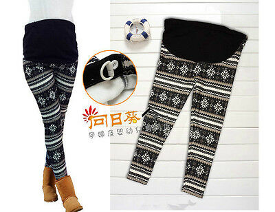NEW Maternity Pregnant Women Winter Warm Pants / Trousers Leggings #0809
