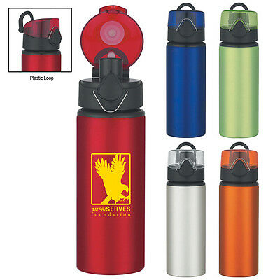 36 Custom Water Bottles, Bulk Promotional Products, Wedding Party Favor, Printed
