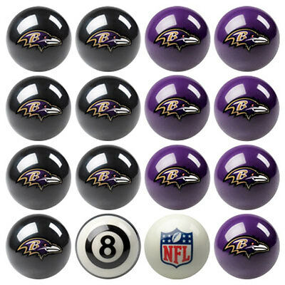 NFL Pool ball set - Baltimore Ravens Home and Away!!  FREE US SHIPPING