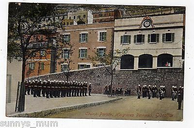 Gibraltar, Jargraves Barracks, Church Parade, 1913