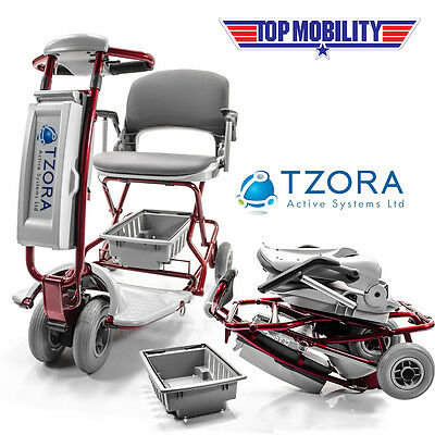 Tzora Classic Lexis Light Folding Mobility Travel Electric SLA Scooter NEW