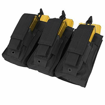 Condor MA55 Black MOLLE Triple 5.56 .223 Kangaroo Mag Magazine Pouch Holster