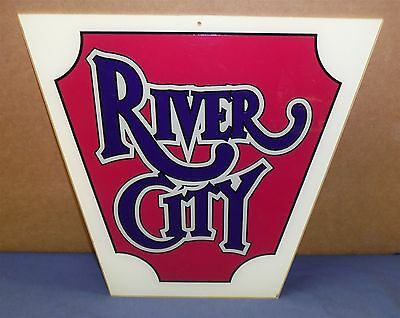 """Vintage River City Casino Sign • New Orleans 14"""" X 14"""" *FREE SHIP*"""