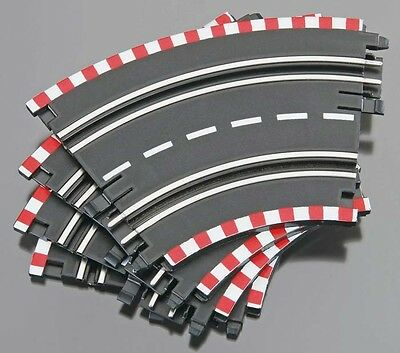 "Lot Of 2 Revell 1/43 5.4"" Curve Track 8 pieces Spin Drive RMXW6115 Slot Car"
