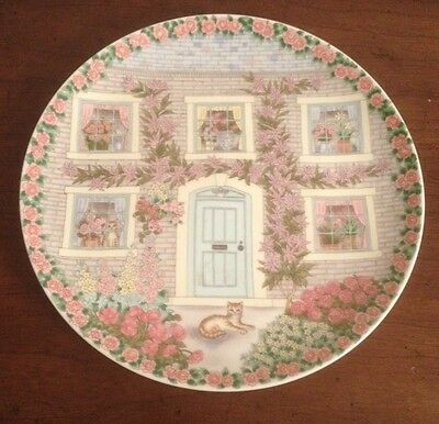 VINTAGE ANDREA BY SADEK CATS IN WINDOWS SUMMERTIME DECORATIVE PLATE