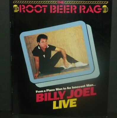Billy Joel Live 1983 Root Beer Rag  tour book concert souvenir program