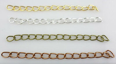 Lot 50/100pcs DIY Bracelets Necklace Extend Chains Gold, Silver, Bronze,Copper