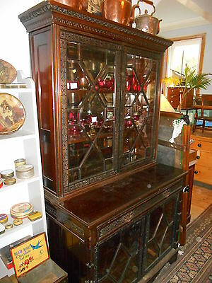 Antique Library Secretaire Barrister's Bookcase
