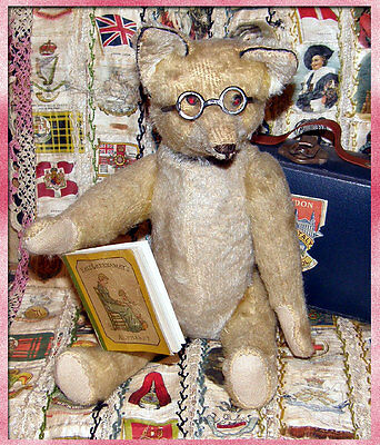 Rare antique Schuco Yes No Fox c1928 - with jewel eyes and glasses
