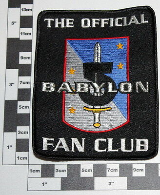 """Abzeichen , Patch """"BABYLON V / THE OFFICIAL FAN CLUB"""""""