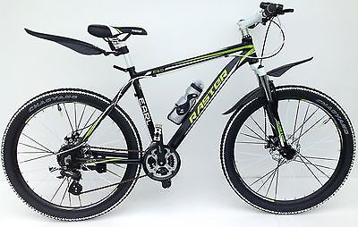 "Mountain Bike New Black/ Green 24 Shimano Gears 26"" Wheels  Alloy Frame"
