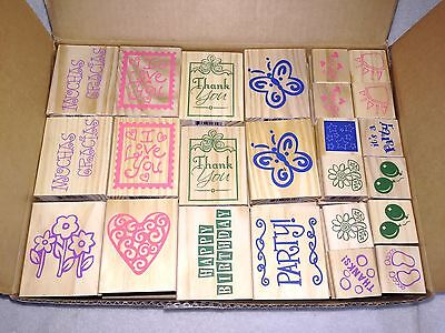 Rubber Stamps Lot of 96 NIB