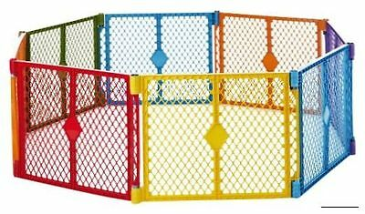 North States Superyard Free Standing Play Yard Colorplay, 8 Count, Free Shipping