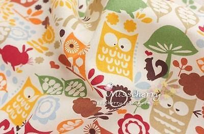 3.5 inch x 55 inch cloth Yellow The owl cotton Handmade cloth Free shipping