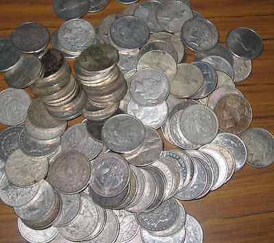 2 Coin Lots  Junk U.s. 90% Silver Peace And Morgan Dollars #!10