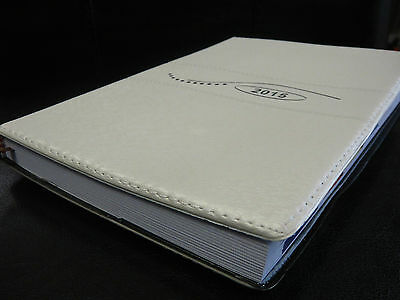 WHITE CALENDAR PLANNER 2015 NEW journal DAILY timed WEEKLY ORGANIZER!!!
