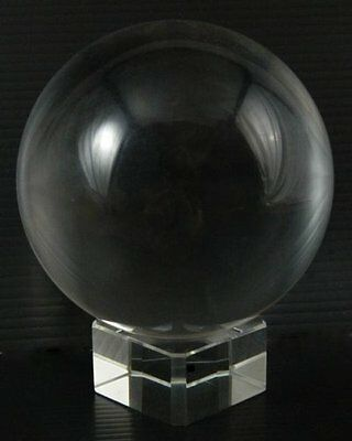 New 50mm Feng Shui Wiccan Scrying Crystal Glass Ball Glass Base