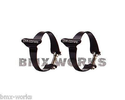 Genuine Dia-Compe Cable Clamps Black (Sold in Pairs) 25.4mm, 28.6mm, or 31.8mm