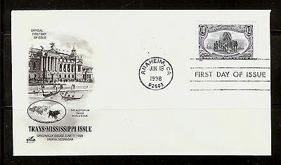 FIRST DAY COVER Trans-Mississippi 10c Reissue #3209f ARTCRAFT U/A FDC 1998