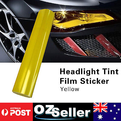 2PCS A4 Yellow/Amber Smoke Head Fog Tail light Tint Lamp Vinyl Film Awesome Look