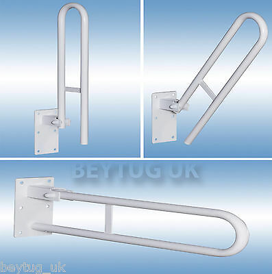 Hinged Bathroom Safety Rail Handle Grab Bar Support Drop Down,600MM Length,Steel