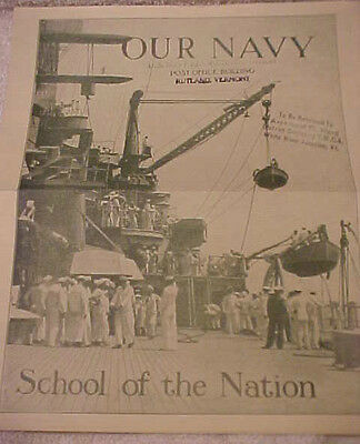1937 UNITED STATES NAVY RECRUITING BROCHURE  SCHOOL OF THE NATION