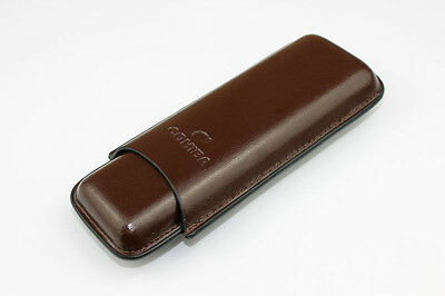 COHIBA Brown Color Leather Cigar Humidor Cigar Case Holder Hold 2 Cigars # A3