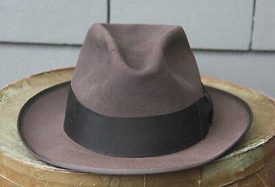 VINTAGE CR. ANTHONY ANTHONY'S  FEDORA HAT WITH TAGS SZ 7