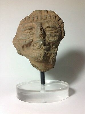 Pre Columbian Head Fragment On Stand