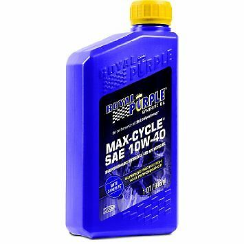 Royal Purple 01315 10W40 Max-Cycle Synthetic Motorcycle Engine Oil 1-Quart