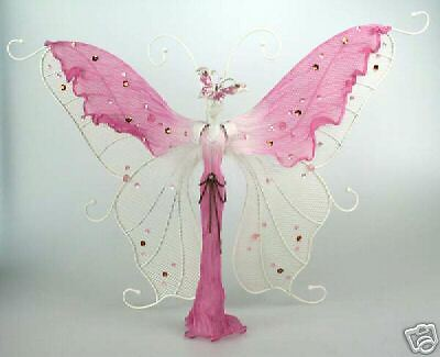 Sparkling Romantic Butterfly Jewelery Stand-Pink