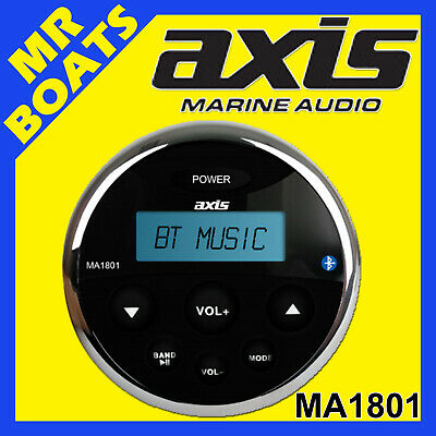 AXIS ✱ MA1801 ✱ Marine Waterproof AM/FM Radio Bluetooth Music Boat FREE POST