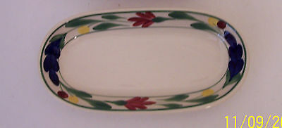 Shenango China hand painted restaurant ware relish dish celery dish
