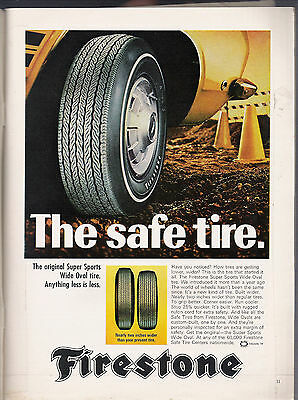 Vintage Firestone tire ad-from May 1968 Playboy magazine