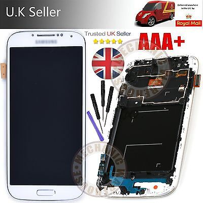 White LCD Touch Screen Digitizer Display Frame For Samsung Galaxy i9505 I9508 S4