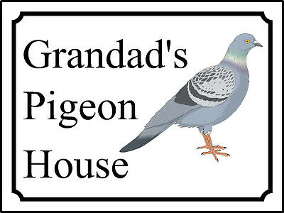 Personalised Pigeon loft shed house barn sign plaque