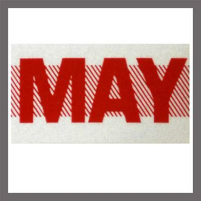 May Month California DMV License Plate Red Registration Sticker Tag YOM CA