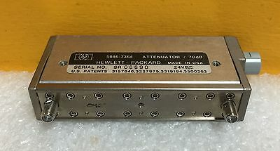 HP / Agilent 5086-7364 DC to 4GHz, 0 to 70dB, 24VDC, SMA Programmable Attenuator