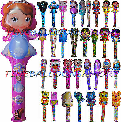 THEMED AIR FILL BALLOON STICK BIRTHDAY PARTY SUPPLIES LOLLY BAG TREAT BOX FILLER